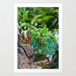 Dreamy Garden Views Art Print