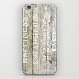 Happiness is not a destination iPhone Skin