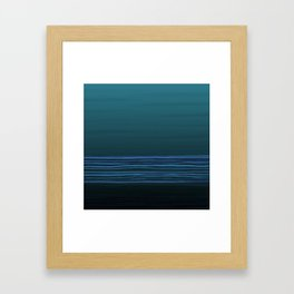Horizon (blue) Framed Art Print