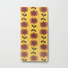Mod Sunflower Yellow Metal Print