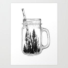 Forest Jar Art Print