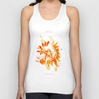 supernatural Tank Tops featuring Supernatural by Rose's Creation