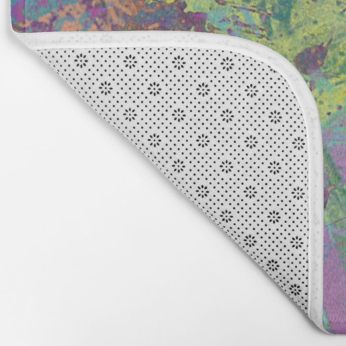 Abstract Thoughts 2 - Textured, painting Bath Mat