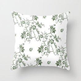 Penis Pattern GREEN Throw Pillow