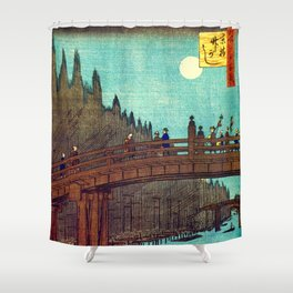 Beautiful Evening Across The Bridge Shower Curtain