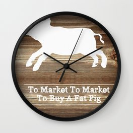To Market Wall Clock