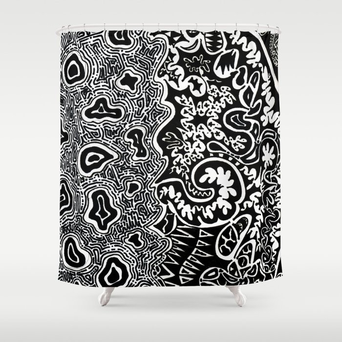 Dependent Existence / The Sun and The Moon Shower Curtain