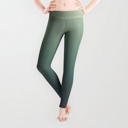 color gradient   blue ,green, grey - autumn colors Leggings