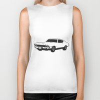 muscle Biker Tanks featuring Muscle Car by mothermary