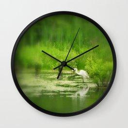 Marsh Egret 2 Wall Clock