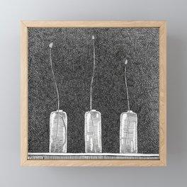 Three Buds Framed Mini Art Print