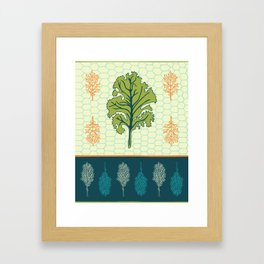 Tropical Paleo – Kale in Cream Framed Art Print