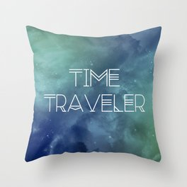 Space and Time Traveler Throw Pillow