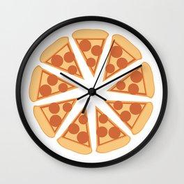 Pizza perfect. picture perfect pizza. perfect pizza wheel pepperoni Wall Clock