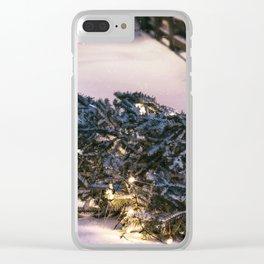 Chrismas Tree Clear iPhone Case