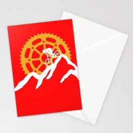 Mountains bike sun hobby leisure nature gift Stationery Cards
