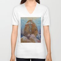 football V-neck T-shirts featuring Football by Michael Creese