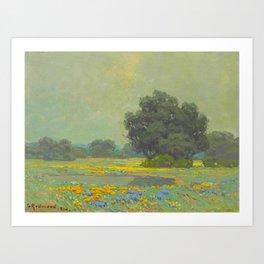 Granville Redmond (1871-1935) Landscape Flower Field Art Print