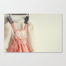 Doll Closet Series - Heart Dress Canvas Print