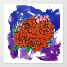 Roses are... Canvas Print