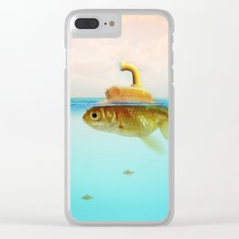 Submarine Goldfish Clear iPhone Case