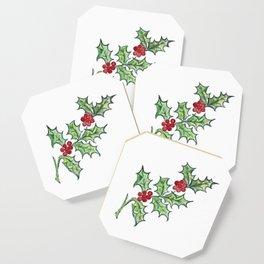 Holly Sprig Coaster