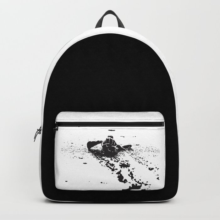 B&W Leatherback Sea Turtle Backpack