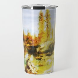 Color trees in autumn Travel Mug
