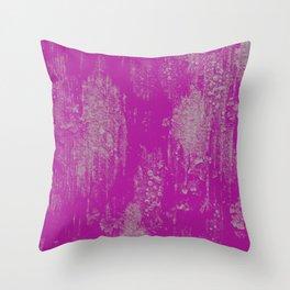 pink lichen Throw Pillow