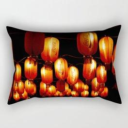 chinese paper lanterns Rectangular Pillow