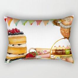 Autumn tea party #2 Rectangular Pillow