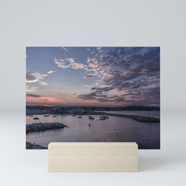 Sunset over Rockport Harbor Mini Art Print