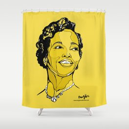 Dorothy Ashby harpist Shower Curtain