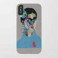 frida iPhone & iPod Cases featuring Frida by Zaneta Antosik
