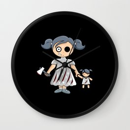 Halloween Zombie Girl Zombie Cool Funny Gift Idea Wall Clock