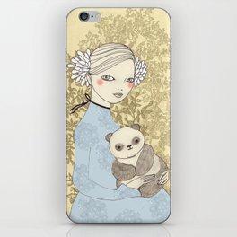 Girl with Panda iPhone Skin