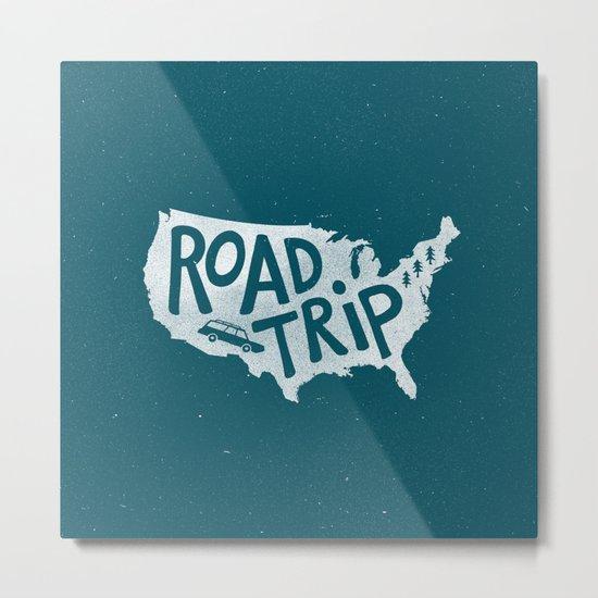 Road Trip USA - reverse Metal Print