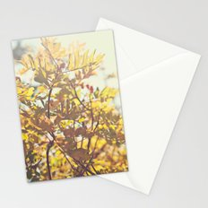Fading Fall Leaves Stationery Cards