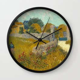Vincent van Gogh - Farmhouse in Provence Wall Clock