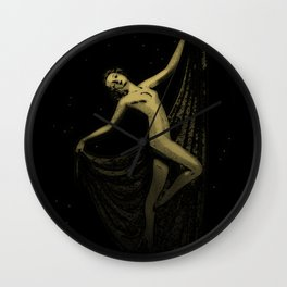 Deco Goddess Wall Clock