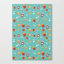Burgers pattern Canvas Print