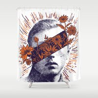 hero Shower Curtains featuring Hero by YONIL