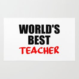 worlds best teacher funny quote Rug