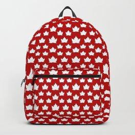 Cute Canada Flag Pattern Backpack
