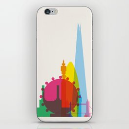 Shapes of London. Accurate to scale iPhone Skin