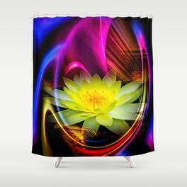 Flower Magic -Water lily Shower Curtain