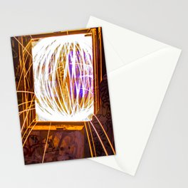 Graff Bomb - Light Painting in Abandoned Ruins Stationery Cards