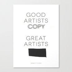 Steal Canvas Print
