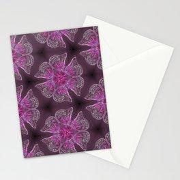 Glowy Butterflies–Pink & Magenta Palette Stationery Cards