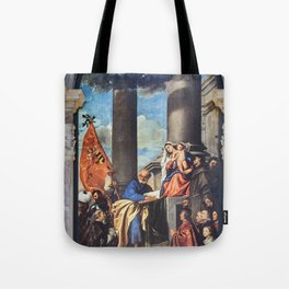 Titian - Altar of Madona di Ca'Pesaro Tote Bag